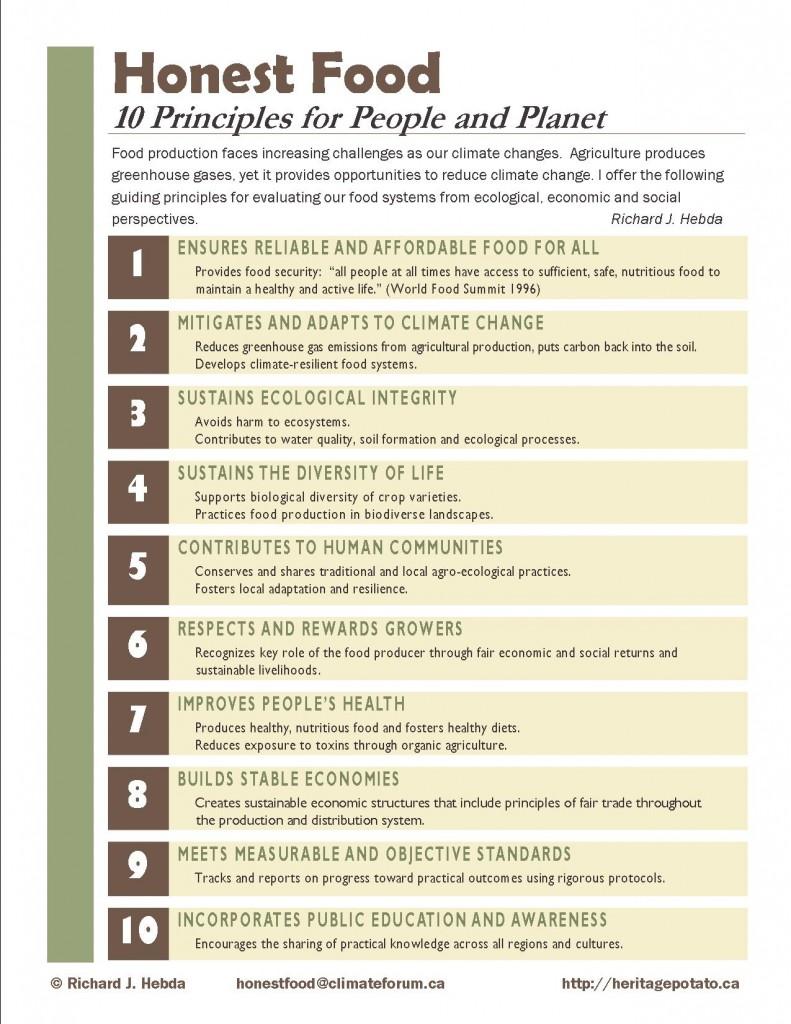 Honest Food Principles